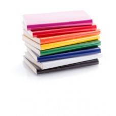 Blocnotes cu 100 file, coperta din caton colorat si folie din PVC
