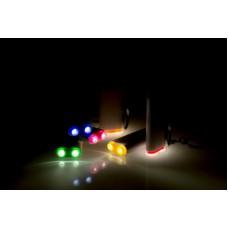 Breloc din plastic cu fisa pentru cumparaturi, cu 2 LED-uri