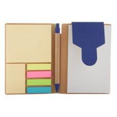blocnotes 70 file si pix mina albastra din hartie reciclabila notite cu adeziv
