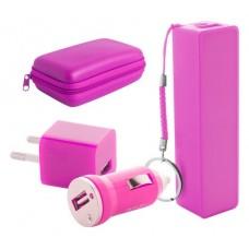 Setul contine incarcator USB auto si AC