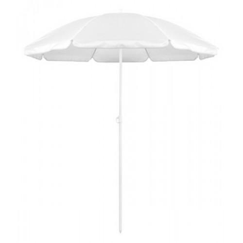 umbrela de plaja Mojacar personalizate Umbrela de plaja 8 panele, margini colorate, cu suport alb din metal. Material nailon TNT 70 g.