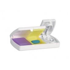 cutie pentru medicamente Aspi Cutie din plastic pentru medicamente prevazut cu cutter medicinal si 2 compartimente pentru pastile