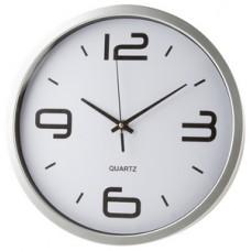 Ceas de perete din plastic, functioneaza cu o baterie AA/R06. Se livreaza fara baterie.