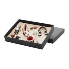 6 accesorii pentru vin in cutie neagra.