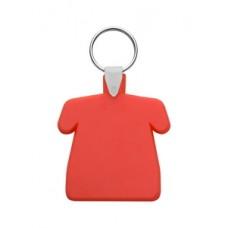 Breloc din plastic cu inel metalic in forma de tricou