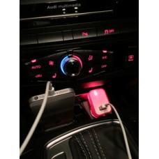 Incarcator masina cu USB cu LED colorat