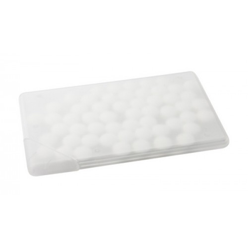 cutie bomboane Card Cutie bomboane in forma dreptunghiulara material: plastic transparent Contine aprox 50 buc dropsuri mentolate